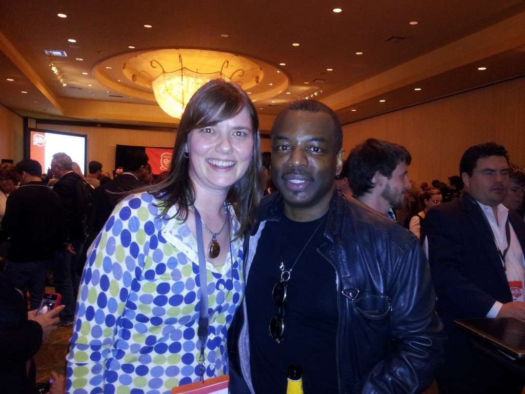 Stacy Dyer and LeVar Burton at SXSWedu